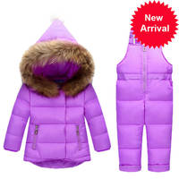 Children Clothing Sets Winter Snow suit Jackets + Jumpsuit 2pcs Set Baby Boy Girls Duck Down Coats Toddler Girl Winter Clothes
