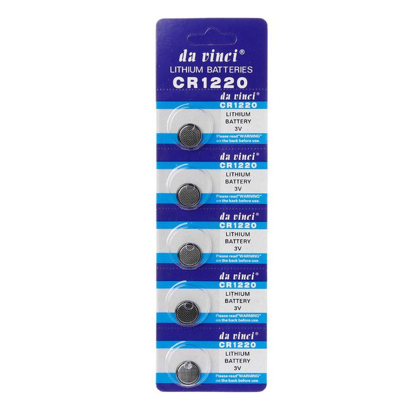 5 шт., Литиевые кнопочные батарейки CR1220 1,55 в DL1220 BR1220 LM1220 CR 1220