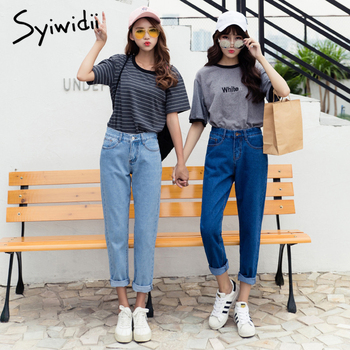 Cotton high waist jeans blue plus size boyfriend jeans for women Harem Pants 5xl street style korean fashion 2020 new 5