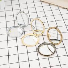 1 pc Mini makijaż lustra 57.1mm puste okrągłe metalowe kompaktowe lustro przenośne kosmetyczne kieszonkowe lustro dziewczyny prezent kobiety uroda narzędzia