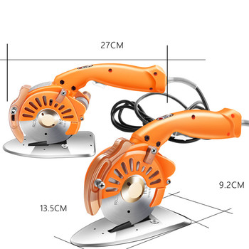 Cutting Tools Hand Push Round knife Cutting Machine Leather Fabric Electric Round Hand Push Adjustable Speed Automatic Sharpenin electric cloth knife 220v 110v 170w fabric cutting tools leather cloth electric cutter machine blade power tools cutting saws