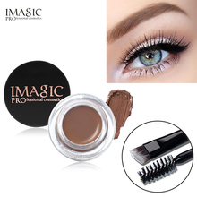IMAGIC 2 = 1 Bottles Professional Eye Brow Gel Tint Natural Long Lasting Waterproof Eyebrow Cream Makeup Cosmetics + 1 Pcs Brush цена 2017