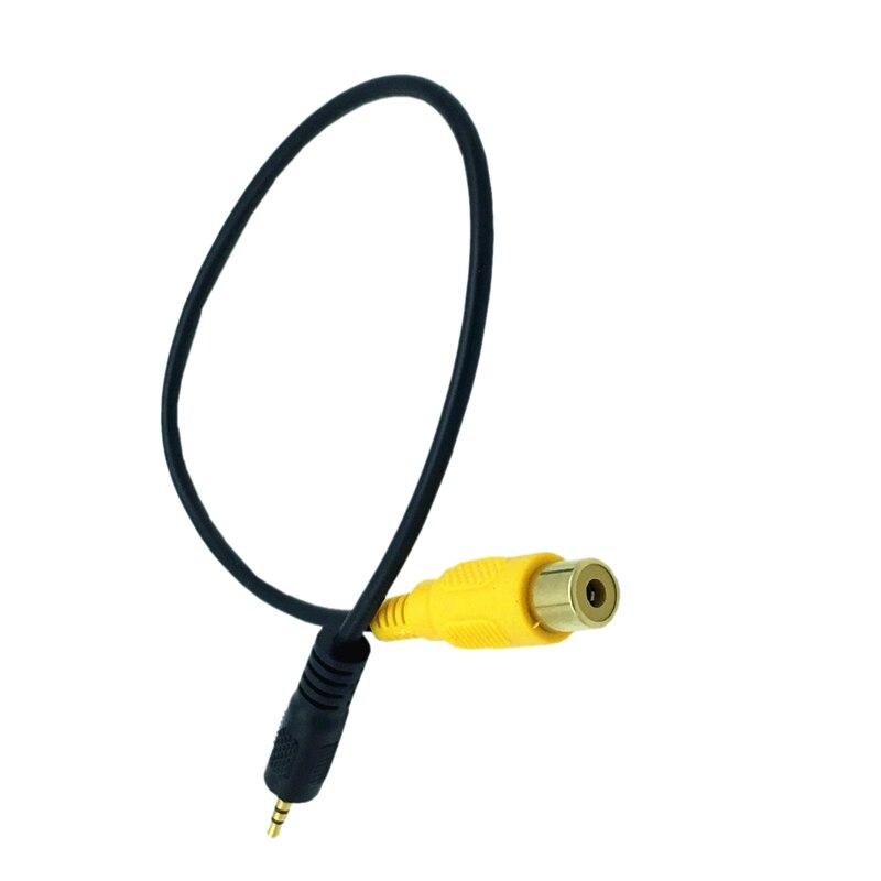 AAAE Top-RCA zu 2,5mm AV-IN Kabel Auto Rückansicht Kamera ZU GPS 2,5mm 0,3 m