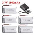 Аккумулятор lipo 3,7 в 1800 мАч для дрона KY601S SYMA X5 X5S X5C X5SC X5SH X5SW X5UW X5HW M18 H5P HQ898 H11D H11C