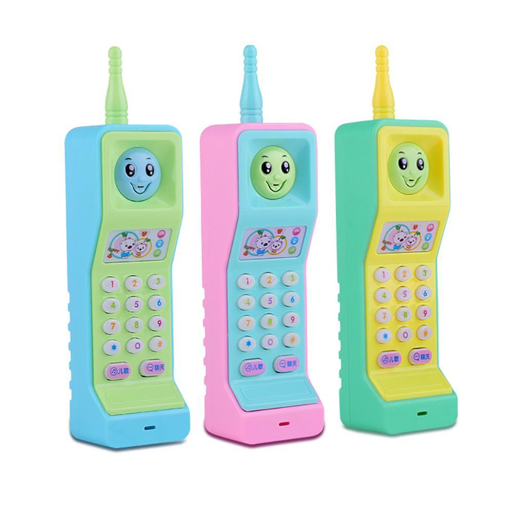 Baby Phone Toy Mobile Telephone Early Educational Learning Cartoon Music Colorful Light Voice Electronic Mobile Phone Kids Toy