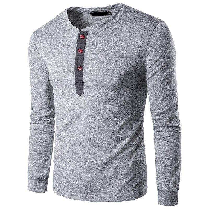 Mens T Shirts Fashion 2019 New Long Sleeve T Shirt Men Casual Round Neck Collar Men's T-shirt Bottoming Shirt
