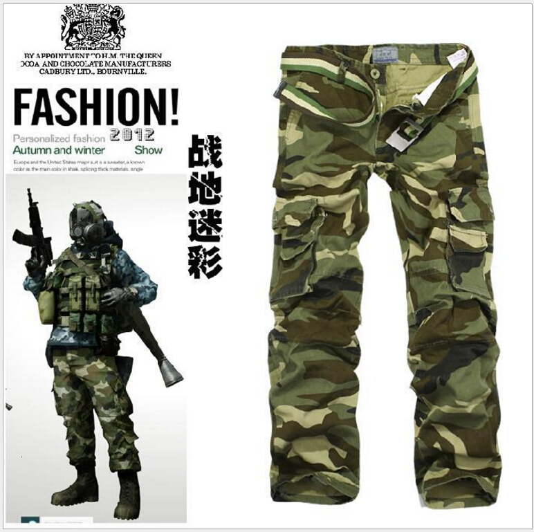 New Winter Warm Men Thick Broek Double Layer Military Army Camouflage Tactical Cats Broek Men's Brand Clothing