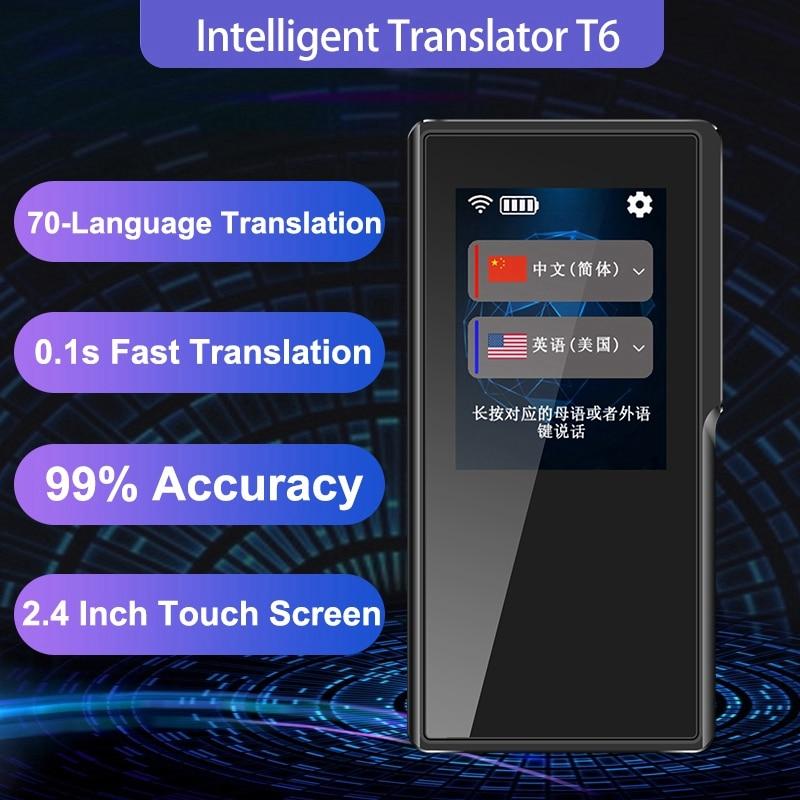 T6 Intelligente Macchina Traduzione 70 Traduzione in Lingua WIFI/Hotspot 7 Giorni In Standby per il Traffico di Viaggio Negozio di Imparare Lo Scambio - 3