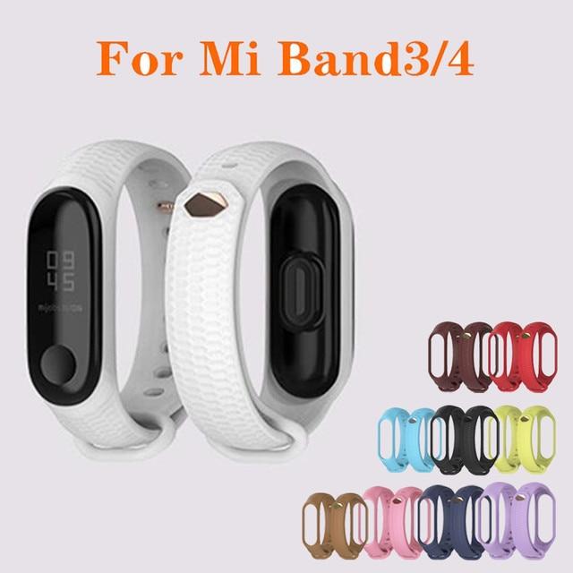 Mode mi bande 4 sangle Silicone Bracelet de poignet pour Xiao mi bande 3 sangle accessoires mi bande 3 bracelets intelligents mi bande 4 6