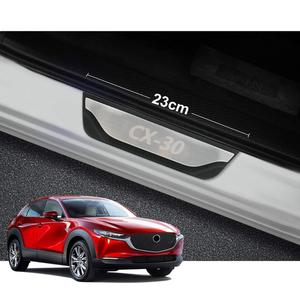 Image 3 - Acessórios da capa do peitoril da porta do carro para mazda Cx 30 cx30 cx 30 protetor de pedal scuff aço inoxidável estilo adesivo 2019 2020