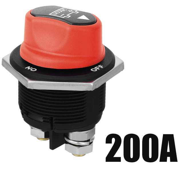 ON//Off 200A ON//Off 200A Jtron Car Battery Switch 12V 200A Motorcycle 32V DC Max On-Off 2P SPST Mini Battery Switch for Mmotorcycle Car SUV Boart Camper