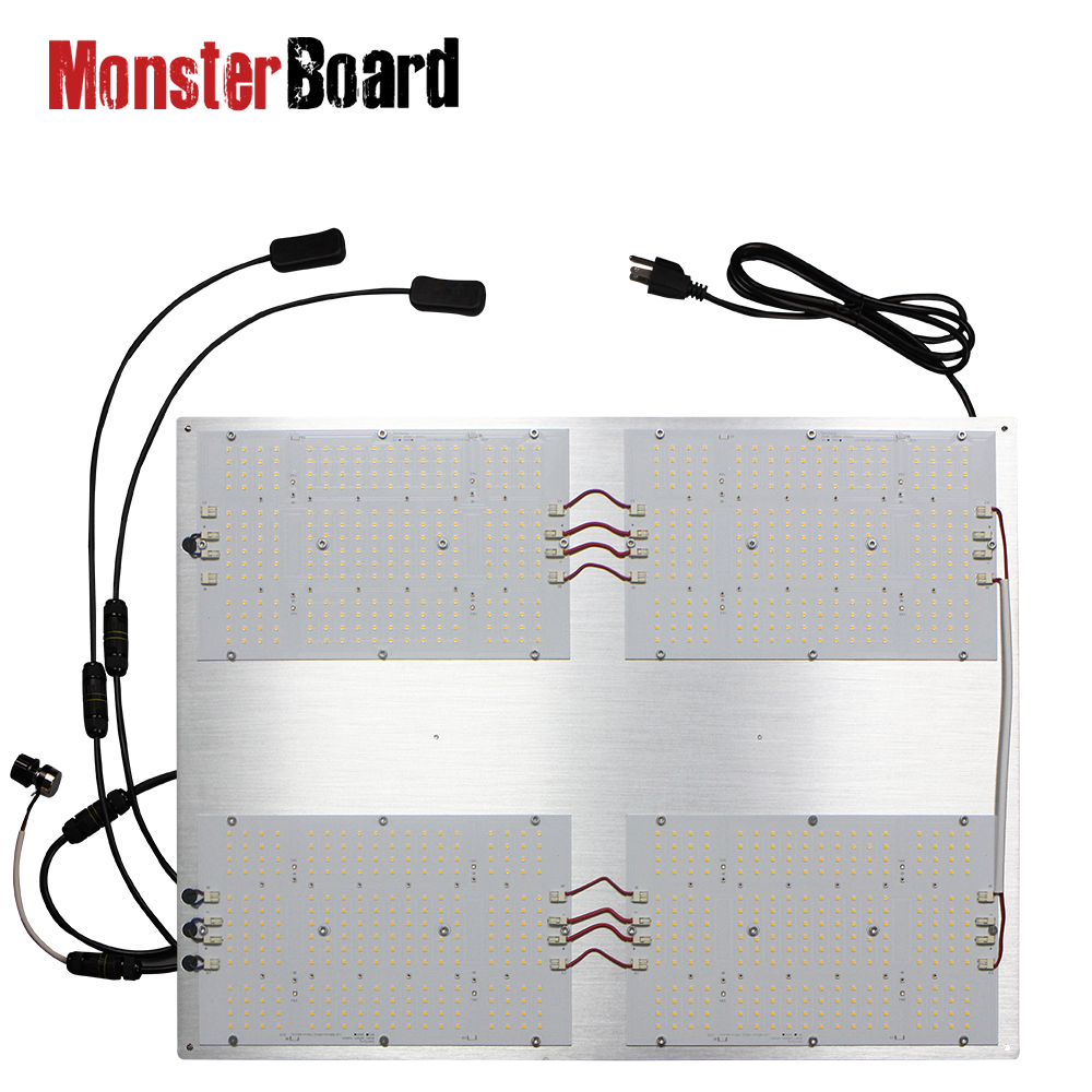 Geeklight 480 Watt Monster Board V4 Plus Lm301h Cree 660nm With LG Uv Cree Ir Pre-assemble Led Grow Light