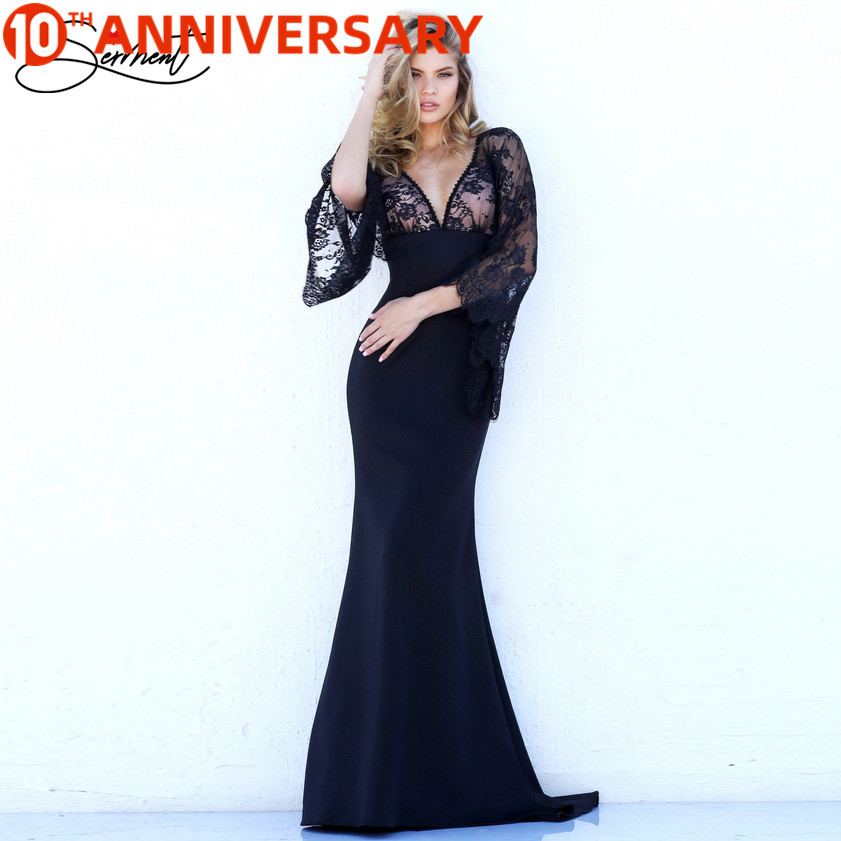 OLLYMURS Mermaid Formal Dresses Evening Gown Cap Sleeve Lacework Suitable For Dance Party Night Party Appointments Plus Size