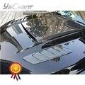 Автомобильный Стайлинг углеродное волокно передний капот вентиляционные отверстия Подходит для 2015-2016 Mustang RU стиль тепловые экстракторы вы...