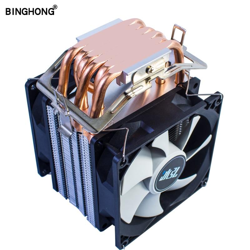 Summer recommended CPU Cooler 6 Copper Tube CPU Radiator Universal LGA775 1155 1356 1366 AMD3 AM4 X79 X99 Motherboard CPU Fan