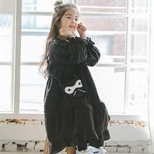 Новинка 2020, платье для девочек, осенняя хлопковая детская расклешенная повседневная одежда, одежда для малышей, выберите размер меньше, #2259