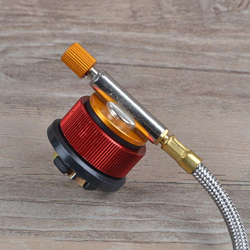 Кемпинг плита адаптер горелки преобразования наружный клапан разъемы газовый адаптер - 4