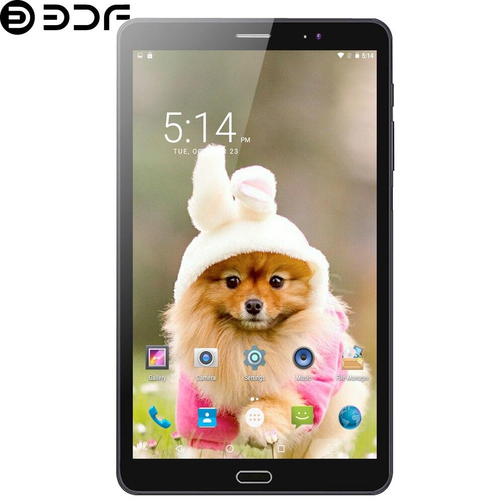 BDF New 8 Inch Tablet Pc Quad Core Android 6.0 Tablets Google Play 3G Phone Call WiFi Bluetooth Dual SIM Card Tab