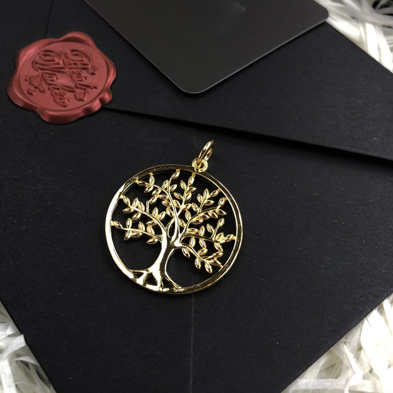 3 Colors Round Life Tree Pendants 925 Sterling Silver Rose Gold Color Fashion Jewelry Necklace Accessories CLOVER JEWELLERY
