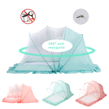 Folding Baby Bedding Crib Net Portable Baby Mosquito Nets Bed Mattress Pillow Suit For Children Summer Protect Breathable Tent