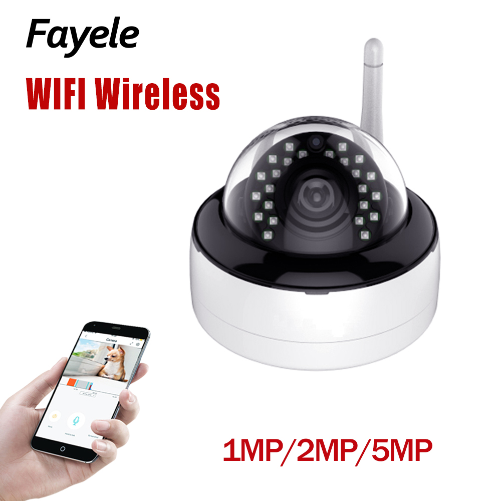 Security 5MP Wi Fi Dome Camera 1MP 2MP 1080P 3.6mm lens Wide Angle Wireless IP Camera Audio Recording IR 30M P2P Motion Detect Surveillance Cameras     - title=