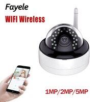Segurança Wi-Fi Câmera Dome 1MP 5MP 2MP 1080P 3.6 milímetros lens Wide Angle Gravação de Áudio Da Câmera IP Sem Fio IR 30M P2P Detecção de Movimento
