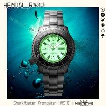Montre de plongée automatique jour/Date, entièrement lumineuse, étanche à 200m, montre-bracelet mécanique en acier inoxydable, cristal saphir