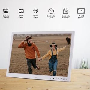 Image 5 - Andoer ulepszony 17 Cal LED fotografia cyfrowa ramka elektroniczny Album fotograficzny 1080P maszyna reklamowa 1440*900 z pilotem