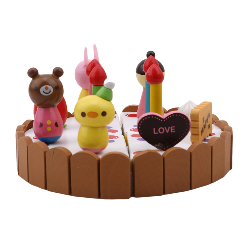 1 pc de madeira mini bolo de