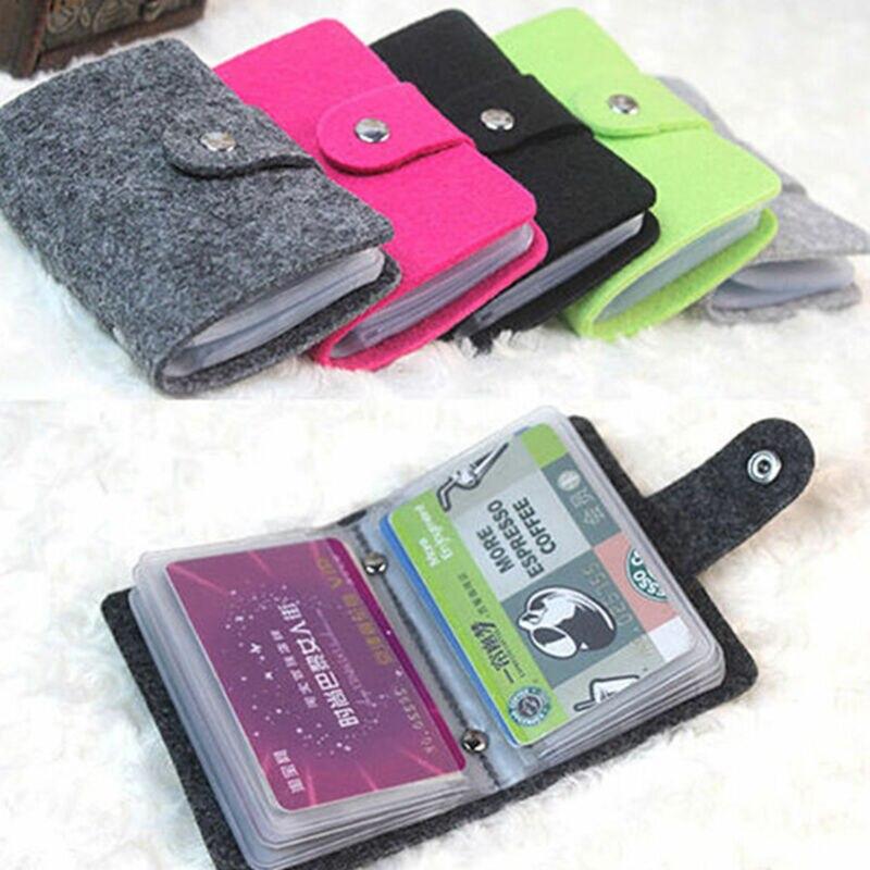 Vintage Women's Men's ID Credit Card Button Case Holder Wallet Organizer Gift Card Cute Holders Wallet Case Change Purse New Hot