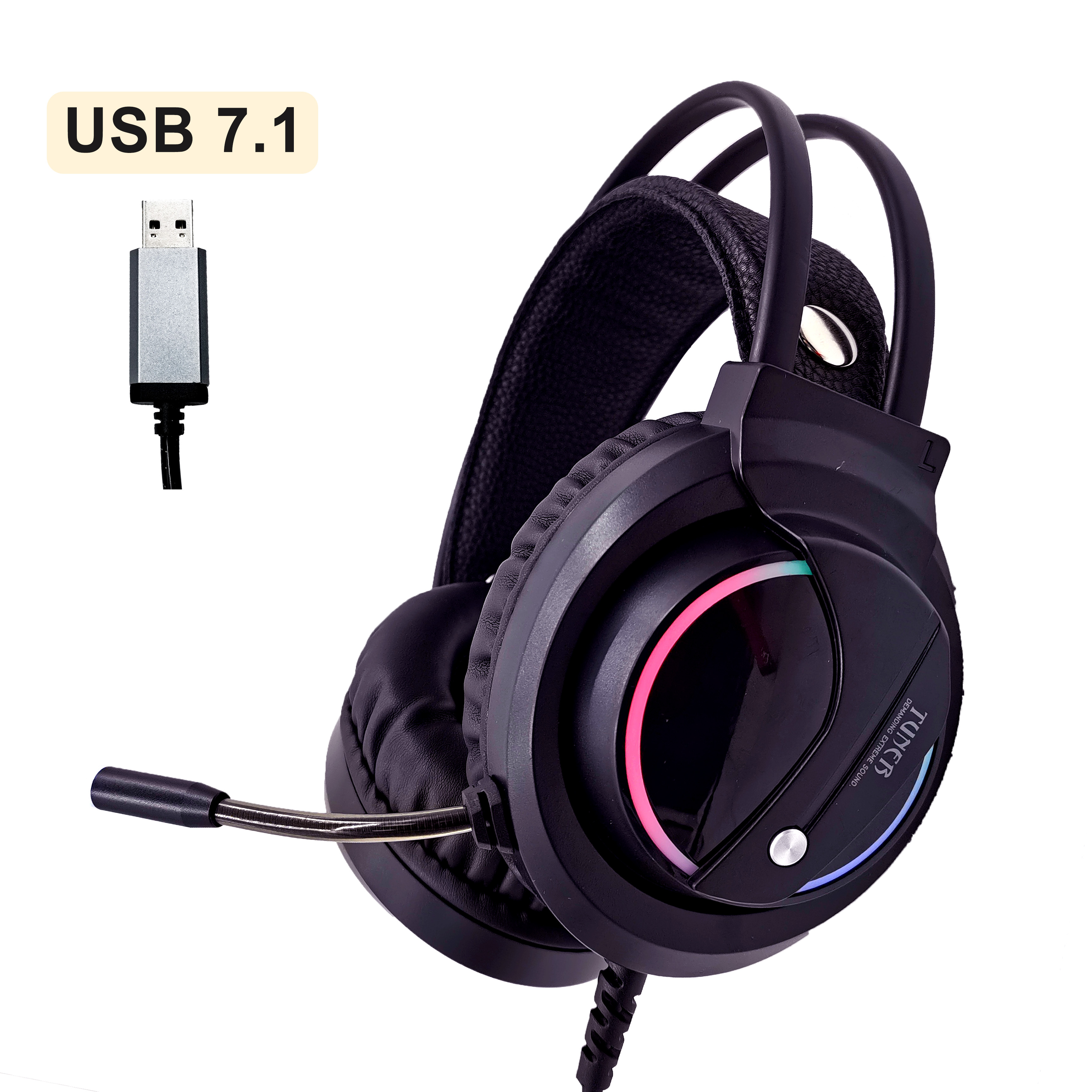 Music Gaming Headset Surround Sound with Mic Earphones USB 7 1  amp  Wired RGB Back Light Game Headphones High Sound Quanlity