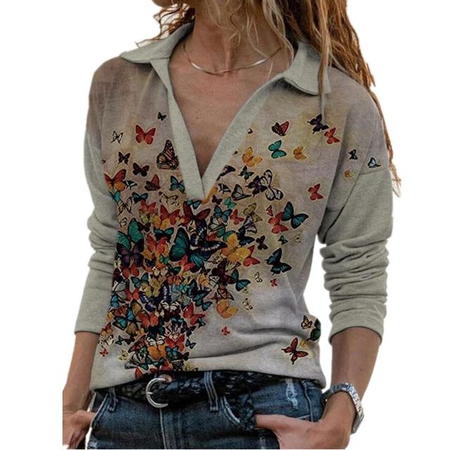 Aprmhisy Graphic Shirts Women Autumn New Long Sleeve Casual Streetwear Blouse Shirt Blusas Femininas 1