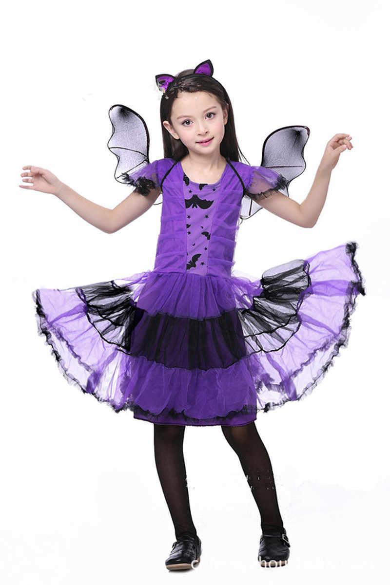 Halloween Costume Masquerade Purple Bat Wings Creative Headband Children Clothing Gift Cosplay Dress Accessories