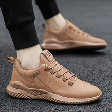 Spring/Autumn 2020 Sneakers Men Leather Shoes Men Lace-Up Non-slip Fashion Casual Zapatos De Hombre Run Shoes Men High Quality genuine leather top quality men leather shoes autumn lace up men s casual shoes outdoorluxury leisure men sneakers shoes