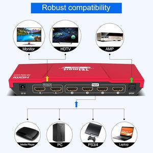 Image 5 - 4K HDMI Matrix 4x2 HDMI Switcher Splitter 4 Ports Input and 2 Ports Output with Analog Stereo(SPDIF) Support 4Kx2K@60HZ HDCP