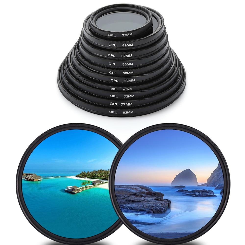 1Pcs Circular Polarizer Filter CPL Filter 37/49/52/55/58/62/67/72/77/82mm For Canon Nikon DSLR Camera Lens Camera Accessories