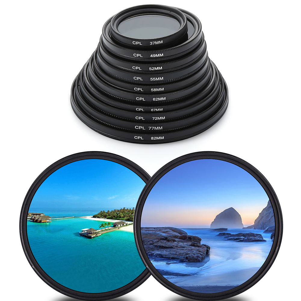 1Pcs Circular Polarizer Filter CPL Filter 37/49/52/55/58/62/67/72/<font><b>77</b></font>/82mm For Canon Nikon DSLR Camera <font><b>Lens</b></font> Camera Accessories image