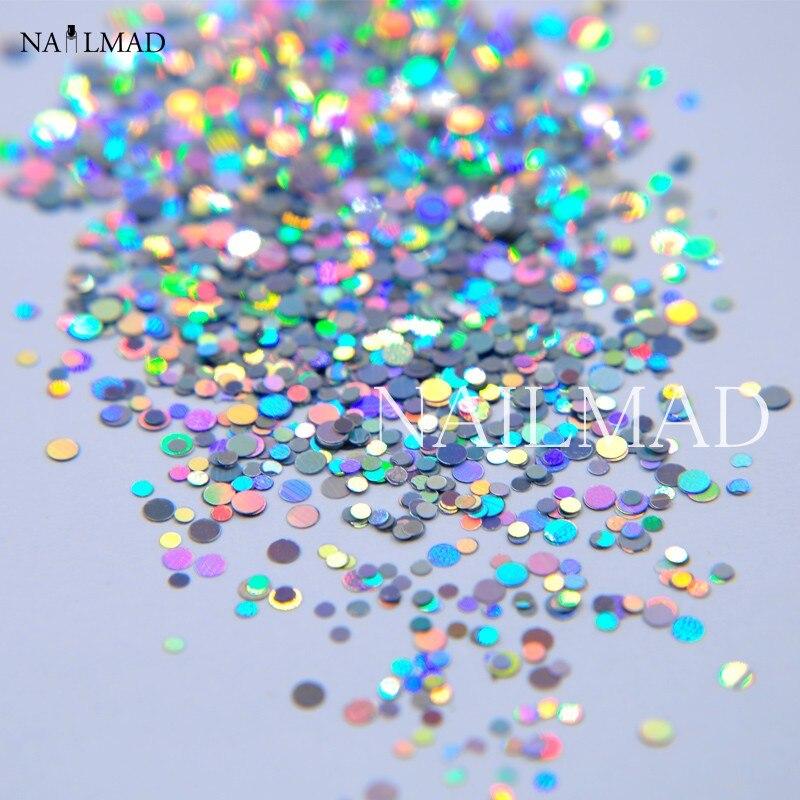 1 box 1mm 2mm Mixed Holo Glitters Laser Nail Glitter Nail Sequins Shiny Nail Paillettes Hologram Nail Art Glitter