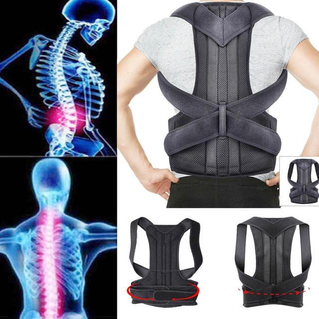 4XL Bovenste Rugpijn Relief Houding Corrector Voor Mannen Body Shapers Schouder Ondersteuning Riem Volwassen Kids Spine Protector Lumbale Braces