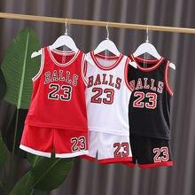 цена на Children Basketball set Clothes Boys Sport Sets Summer Boys Girls Ventilate Vest + Shorts Outfits Kids  Jersey Suits Clothing