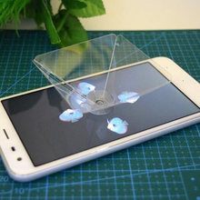 Przezroczysty 360 stopni 3D dzieci zabawki Ultra przejrzysty dla telefonu komórkowego wideo stojak uniwersalny projektor wirtualny domu