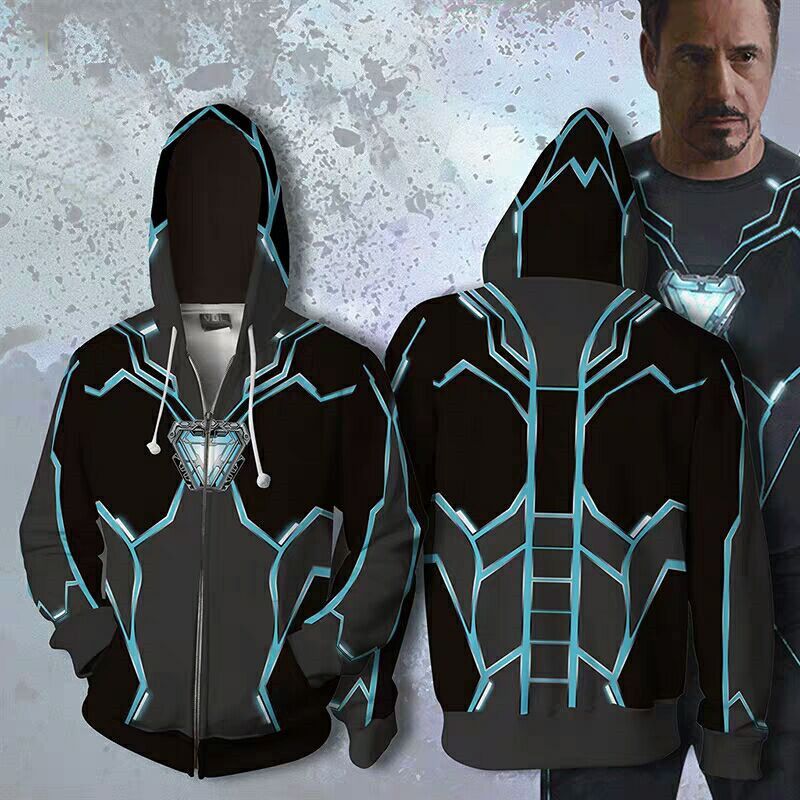 New Avengers 3 Infinity War Iron Man Tony Stark Hoodie Men Superhero Sweatshirt 3D Printed Men Hoodies Streetwear Fashion Coat