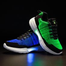 USB Men Shoes Sneakers LED Fiber optic shoes zapatillas hombre Light Casual tenis masculino D20