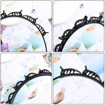 AWAYTR Double Layer Bands Clip Hairbands Fashion Plastic Braided Headband Punk New Knitting Womens Headwear Hair Accessories 6