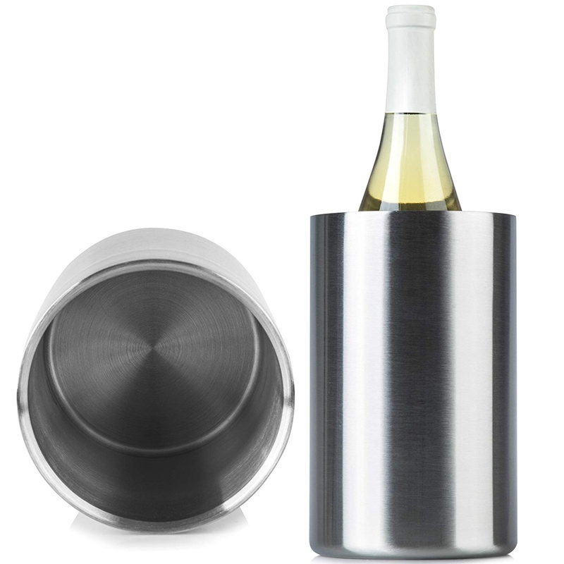Insulated Wine Cooler Bucket With Wine Aerator Fits 750Ml Wine Bottles Keeps Wine Cold For Hours Sweat Free Stainless Steel in Ice Buckets Tongs from Home Garden
