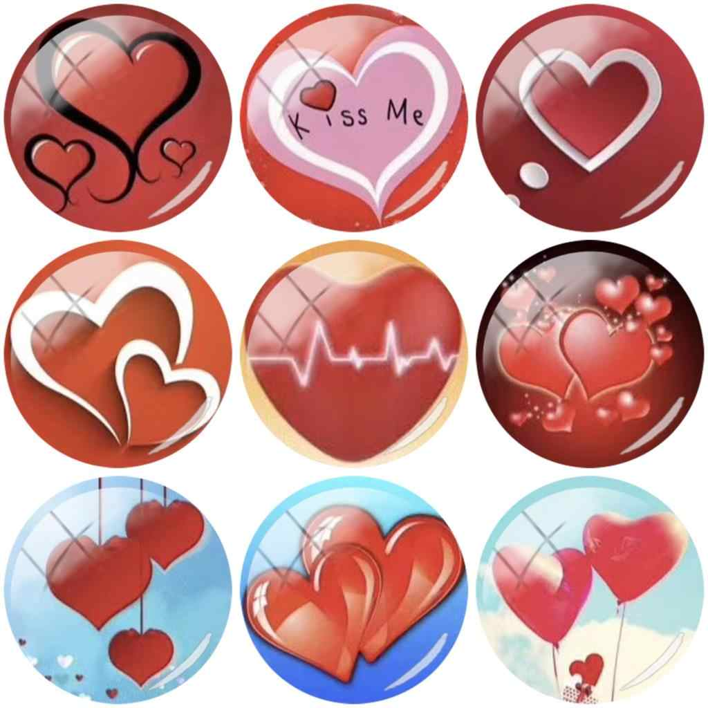 Tafree para amantes coração batida 12mm/15mm/16mm/18mm/20mm/25mm cúpula de cabochão de vidro achados de jóias traseiras lisas que fazem ht251