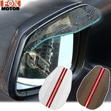 2X Puerta de coche Retrovisor lateral espejo de ala lluvia Visor de nieve guardia tiempo escudo sombra de sol cubierta retrovisor Universal accesorios