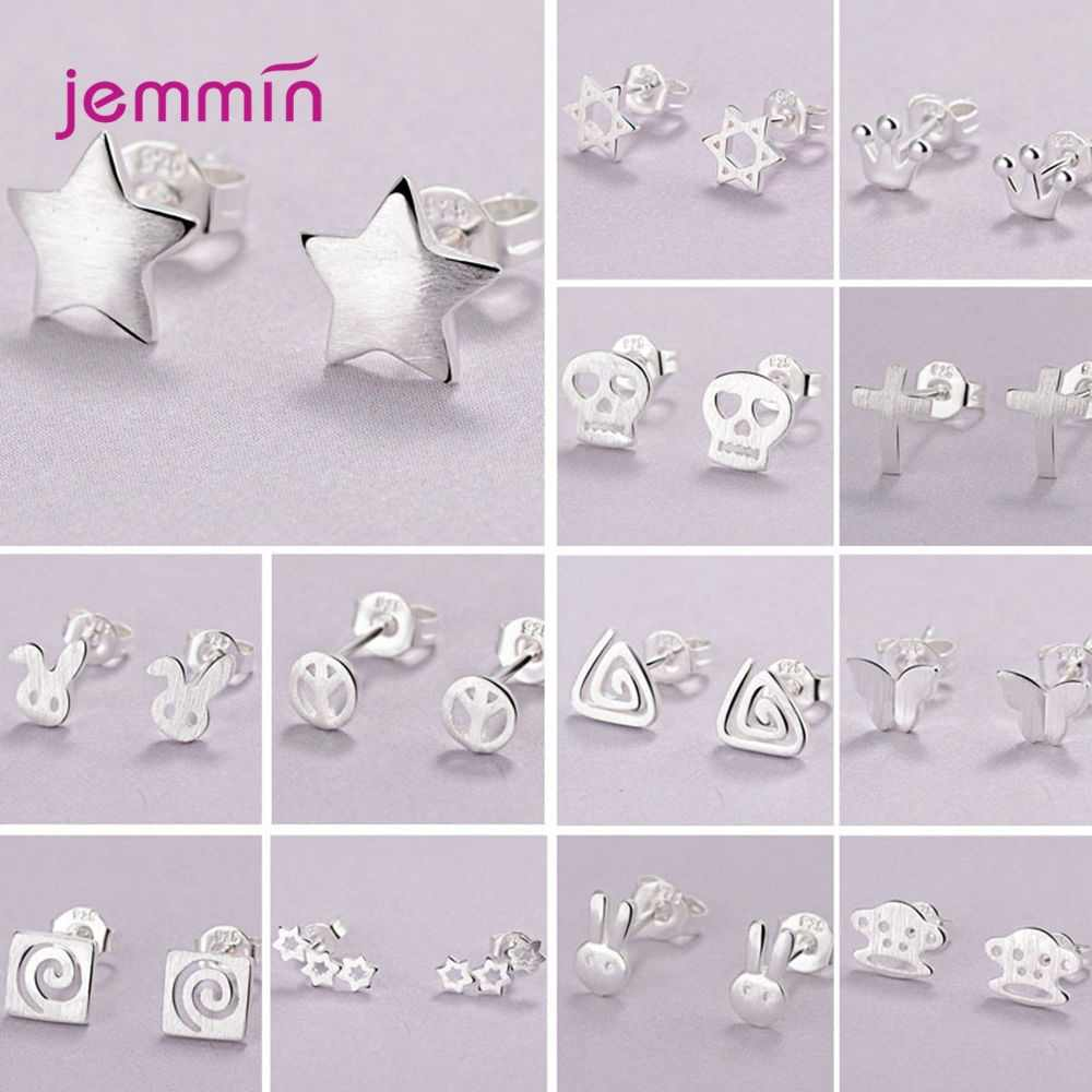 Various Models Genuine 925 Sterling Silver Earrings Fashion Christmas Jewelry Gift For Women Girls Wedding Party Elegant Jewelry