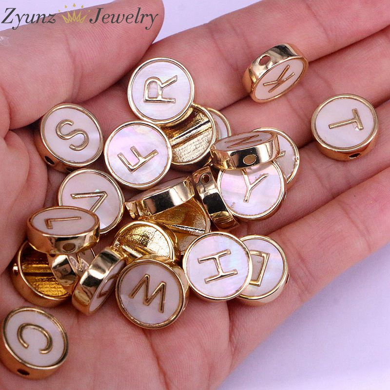Freshwater Pearl Side Hole Beads for Jewelry Making 10PCS Gold Color Coin shape Nature Pearl Connector