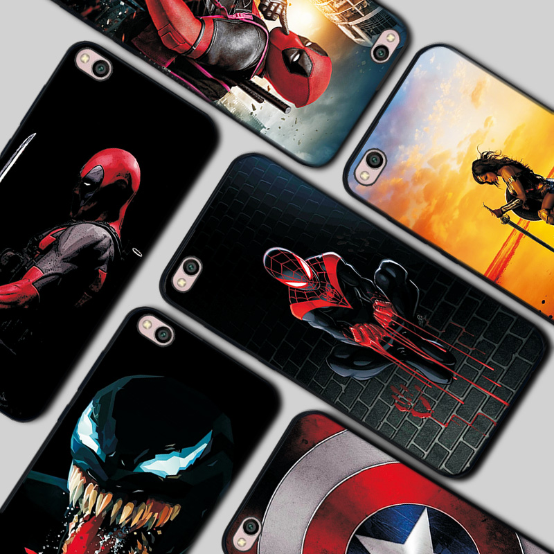 Redmi GO Venom Deadpool Black TPU <font><b>Cases</b></font> For Xiaomi Redmi GO Spiderman Silicone Cover For Redmi GO The Avengers <font><b>Phone</b></font> Bags Coque image